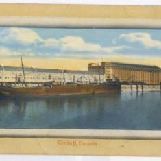 1041 - GALATI, ship, harbor - old postcard - unused - Carte Postala Moldova 1904-1918, Necirculata, Printata