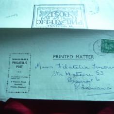 Plic circulat pt. Corespondenta Filatelica Anglia 1945