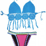 SW964-4 Costum de baie in 2 piese, cu neopren si model crosetat