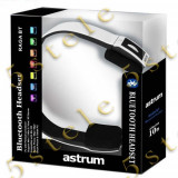 Astrum Raga BT Bluetooth Headset HS-240BT Alb Blister, Casti On Ear, Active Noise Cancelling