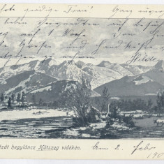 544 - Hunedoara, HATEG, Retezat Mountain - old postcard - used - 1909 - Carte Postala Transilvania 1904-1918, Circulata, Printata