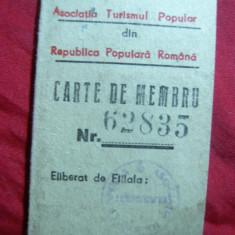 Carnet Membru -Asociatia Turismul Popular RSR 1949 -C.I.Dianu - Pasaport/Document