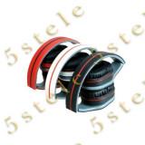 Astrum Headset cu Microfon HS-730 Alb/Rosu Blister, Casti On Ear, Cu fir, Mufa 3,5mm
