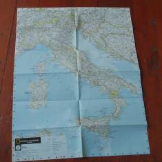 Harta Italiei - Italia / Italy National Geographic !!!