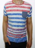 Cumpara ieftin Tricou - tricou dungi tricou barbat tricou slim fit tricou vara cod 5, L, XL