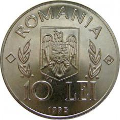 Romania, 10 lei 1995 FAO_cu N in romb, necirculata, Nichel
