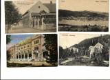 4 VEDERI DIN BANAT, ORSOVA, ORAVITA, BOCSA, HERCULANE , FOARTE FRUMOASE., Circulata, Printata