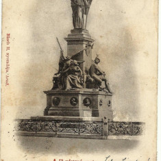 VEDERE CU MONUMENTUL EROILOR MAGHIARI DIN ARAD, AL CELOR 13 GENERALI, ANUL 1901 - Carte Postala Transilvania 1904-1918, Circulata, Printata