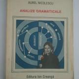 ANALIZE GRAMATICALE - AUREL NICOLESCU ( 4253 )