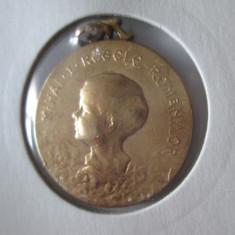 RARA! MEDALIA/MEDALION REGELE MIHAI COPIL,, ROMANIA INTREGITA''1928-1930 - Medalii Romania