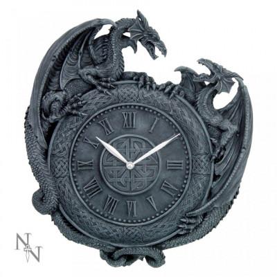 Ceas de perete gotic Duelul dragonilor foto
