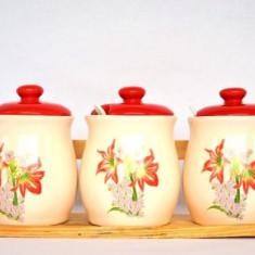 Set condimente (model: flori si fructe)