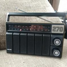 Radio portabil vintage Philips 270, stare excelenta. - Aparat radio