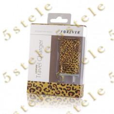 Incarcator Retea USB 1A Forever model - Leopard Blister