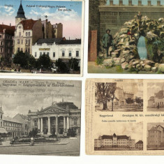 4 VEDERI VECHI DIN ORADEA +BAILE FELIX, FOARTE FRUMOASE !!, Circulata, Printata, Romania 1900 - 1950