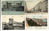 4 VEDERI VECHI , INCEPUT DE 1900 DIN VIENA SI BUDAPESTA, FOARTE FRUMOASE., Circulata, Printata, Europa