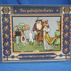 CARTE VECHE COPII IN GERMANA / MOTANUL INCALTAT * ILUSTRATII EUGEN OSSWALD ~1925