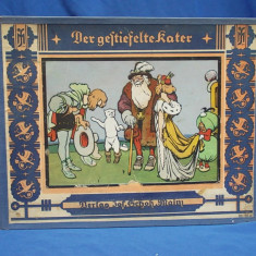 CARTE VECHE COPII IN GERMANA / MOTANUL INCALTAT * ILUSTRATII EUGEN OSSWALD ~1925 - Carte de colectie