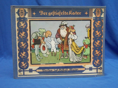 CARTE VECHE COPII IN GERMANA / MOTANUL INCALTAT * ILUSTRATII EUGEN OSSWALD ~1925 foto