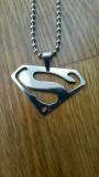 Medalion cu lant SUPERMAN inox antialergic - unisex - calitate super -  sigilat