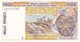 Bancnota Statele Africii de Vest 1.000 Franci 1993 - P711Kc aUNC ( Senegal )