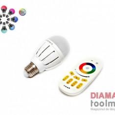 LED BEC RGB +TELECOMANDA, Becuri LED