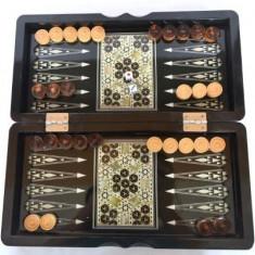 Joc de sah, table si dame (culoare: negru) - Set sah