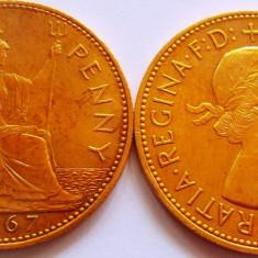 Moneda 1 Penny - ANGLIA, anul 1967  *cod 2760