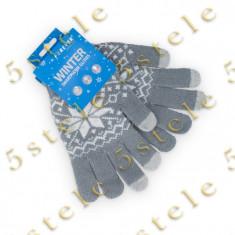 Forever Manusi pentru Afisaje Tactile (Touchscreen) Gri Model - Manusi touchscreen