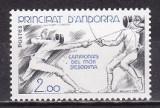 Andorra fr. 1981 - cat.nr,296 - Ziua copilului neuzat,perfecta stare