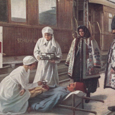 BUCOVINA , PRIMUL RAZBOI MONDIAL 1914-1915, TRENUL - SPITAL AUSTRIAC IN BUKOWINA