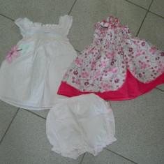 Set de doua rochite fetite, 1 an, 12-18 luni, de vara. COMANDA MINIMA 30 LEI!, Culoare: Din imagine