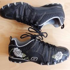 Adidasi Skechers, piele naturala; marime 38 (25 cm talpic interior) - Adidasi dama Skechers, Culoare: Din imagine