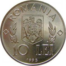 Romania, 10 lei 1995 FAO_fara N in romb, necirculata, Nichel