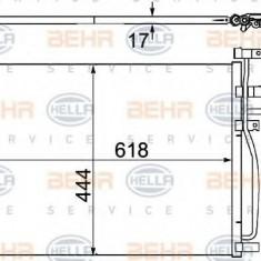 Condensator, climatizare OPEL ANTARA 2.4 - HELLA 8FC 351 304-311 - Radiator aer conditionat