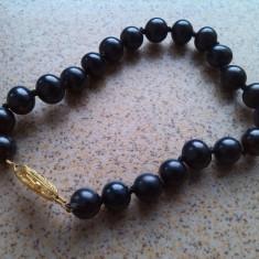Akoya bratara perle negre tahitiene-irizatii multicolore