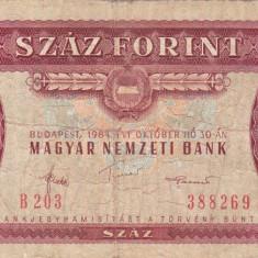 UNGARIA 100 forint 1984 VF-!!! - bancnota europa
