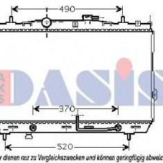 Radiator, racire motor HYUNDAI TUSCANI 2.0 - AKS DASIS 510032N - Radiator racire KLOKKERHOLM