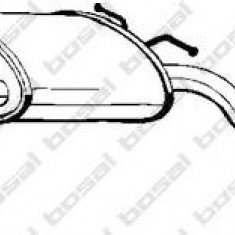 Toba esapamet intermediara VAUXHALL CARLTON Mk III 3.0 3000 24V - BOSAL 282-865 - Toba finala auto