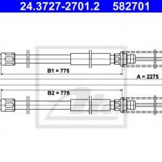 Cablu, frana de parcare SEAT IBIZA  0.9 - ATE 24.3727-2701.2