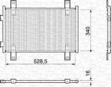 Condensator, climatizare FIAT DUCATO caroserie 2.0 - MAGNETI MARELLI 350203159000, Magneti Marelli