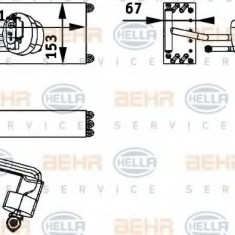 Evaporator, aer conditionat RENAULT KANGOO 1.2 - HELLA 8FV 351 211-591