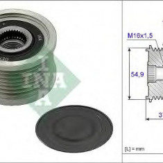 Sistem roata libera, generator MITSUBISHI CANTER platou / sasiu 3.0 D - INA 535 0235 10 - Fulie