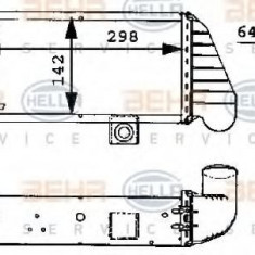 Intercooler, compresor FORD ESCORT Mk VI 1.8 TD - HELLA 8ML 376 723-071 - Intercooler turbo
