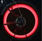 Set 2 x leduri rosi roata pentru tuning bicicleta , vizibilitate crescuta