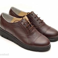 Pantofi dama maro casual-eleganti din piele naturala cod P47 - Made in Romania - Pantof dama, Marime: 35, 36, 37, 38, 39, 40