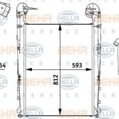 Intercooler, compresor RENAULT TRUCKS Premium 2 Distribution 370.18 D - HELLA 8ML 376 728-731 - Intercooler turbo