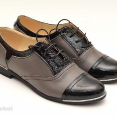 Pantofi dama piele naturala cu siret cod P50 - Model casual - office