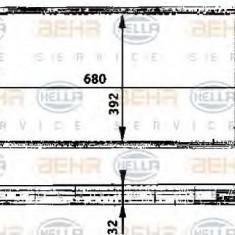 Intercooler, compresor RENAULT VEL SATIS 3.0 dCi - BEHR HELLA SERVICE 8ML 376 723-211 - Intercooler turbo