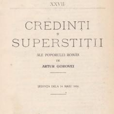 Artur Gorovei - Credinti si superstitii ale poporului roman - 618902 - Carte Proverbe si maxime